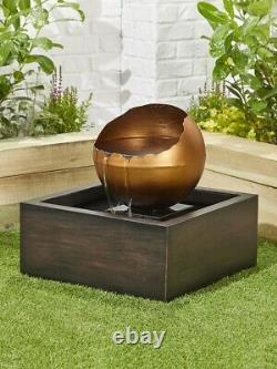 Pooling Sphere inc LED By Kelkay Easy Fountain Water Feature 45214L