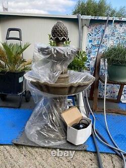 Primrose 2 Tier Water Feature Garden Fountain Decorative Patio Centrepiece Lawn