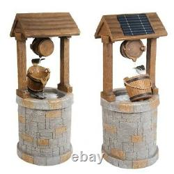 Primrose solar powered wishing well water feature for garden with bird new inbox