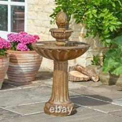 Queensbury Solar Water Feature Garden Fountain Decorative Patio Centrepiece Lawn