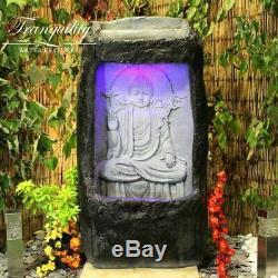 Raining Buddha Wall Contemporary Garden Water Feature, Outdoor Fountain
