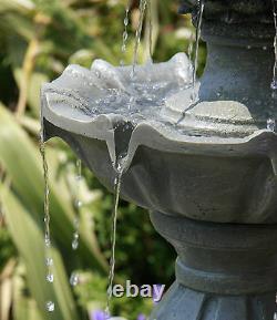 Regal Three Tier Garden Fountain Water Feature 3 Tiered Cascade Outdoor Patio