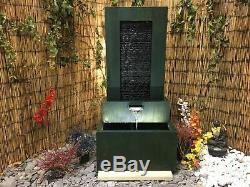 Ripple Pool Wall Contemporary Water Feature with lights, SOLAR, garden fountain