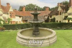 Romford Pool Surround 2 Tiered Barcelona Stone Garden Water Fountain Feature