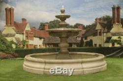 Romford Pool Surround, Large Bowl Regis Fountain, Garden Water Fountain Feature