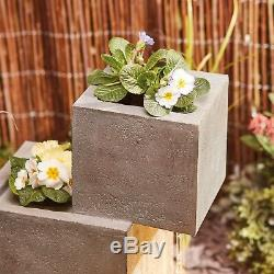 Serenity Cascade Water Feature Fountain Outdoor 74cm Garden Ornament Planter NEW