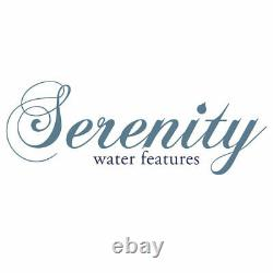 Serenity Garden 35cm Sandstone Sphere Water Feature LED Outdoor Fountain NEW