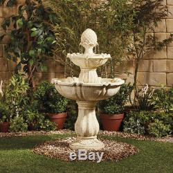 Serenity Garden Water Feature 3 Tier Fountain Cascade Bird Bath Indoor Outdoor