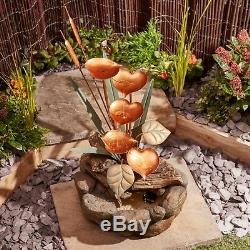 Serenity Garden Water Feature Cascade Lily Pad Contained 79cm Fountain Ornament