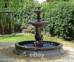 Small Cambrigde Pool Surround 2 Tiered Candy Twist Water Fountain Garden Feature