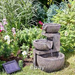 Smart Garden Genoa Cascade Water Fountain Solar Powered Garden Water Feature