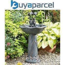 Smart Garden Solar Frog Frolics Umbrella Garden Water Feature Fountain Bird Bath
