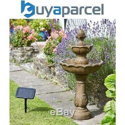 Smart Garden Solar Kingsbury 3 Tier Garden Water Feature Fountain Bird Bath
