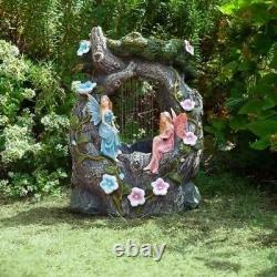 Smart Solar Elvedon Fairy Rainfall Garden Water Feature Fountain FAST DELIVERY