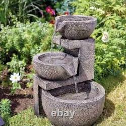 Smart Solar Genoa Cascade Solar Powered Garden Water Feature Fountain