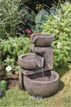 Smart Solar Powered Genoa Cascade Water Feature Garden Fountain