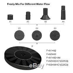 Solar Panel Powered Submersible Floating Fountain Garden Pool Pond Water Pump