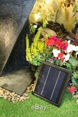 Solar Powered Water Pump Feature 200 Litres per Hour Stone Ball garden Fountain