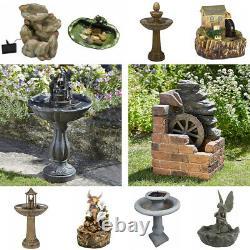 Solar Water Feature Garden Fountain Decorative Centrepiece Statue Decor Ornament