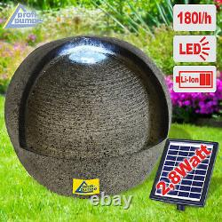 Solar Water Feature Solar Garden Fountain Outdoor Water Feature With Led Lights