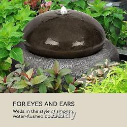Solar Water Garden Fountain Outdoor Home Decor Pump 200l / h 2W Stone look