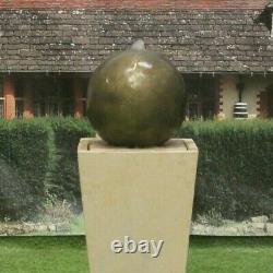 Sphere Ball On Cantabury Tub Stone Water Fountain Feature Garden Ornament