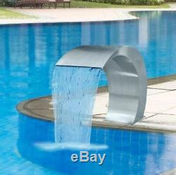 Stainless Steel Water Fountain Pool Cascade Feature Contemporary Garden Pond Set