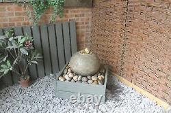 Stone Cassius Ball Fountain Garden Water Feature Ornament