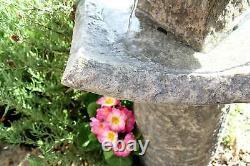 Stone Effect Garden Water Feature Fountain Self Contain Solar Pond 2 Tier Decor