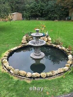 Stone Garden Outdoor Water Fountain Feature Ornamente Solar Pump