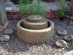 Stone Garden Small Millstone Water Feature Fountain Ornament