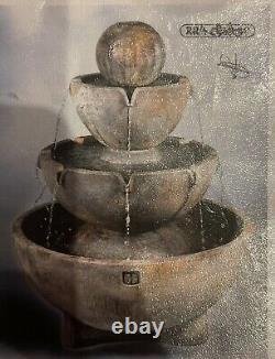 Stone garden fountain water feature