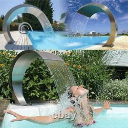 Swimming Pool Stainless Steel Garden Waterfall Fountain Water Feature Home Decor