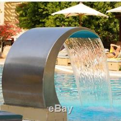 Water Feature 2 Connections Waterfall Stainless Steel 60 CM With LED Lighting