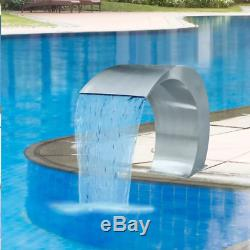 Swimming Pool Waterfall Fountain Stainless Steel Water Feature Garden Decor New