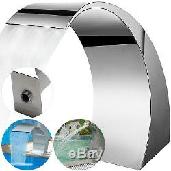 Swimming Pool Waterfall Fountain Water Feature Stainless Steel Garden Decorative