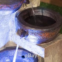 Terracotta Bowls Water Feature Outdoor Garden Decor 4 Tier Cascading Fountain