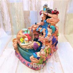 The Little Mermaid Ariel Sebastian Snow Globe Snow Dome Fountain Water Garden