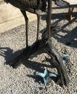 Two Herons / Storks / Cranes 170cm Bronze Fountain Water Garden Feature