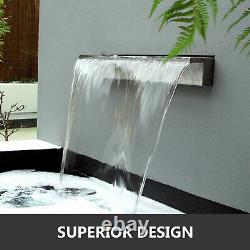 VEVOR 1500mm Stainless Steel Rectangular Pool Fountain Waterfall Water Blade