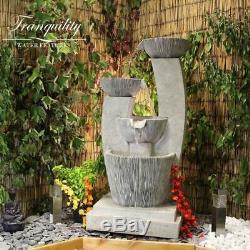 Venetian Pots Contemporary Garden Water Feature, Outdoor Fountain Great Value