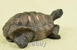 Vintage 100% Bronze Water Fountain Turtle Statue Garden Numbered Collectible