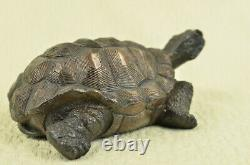 Vintage Bronze Water Fountain Turtle Statue Garden Numbered Collectible Deocr