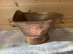 Vintage French Copper Lavabo Water Tank Bowl Basin Sink Garden Fountain