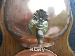 Vintage French copper water/wine fountain lavabo working