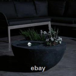 VonHaus Dual Water Feature and Planter, Indoor/Outdoor LED Light Garden Fountain