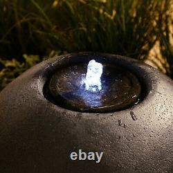 VonHaus Garden Sphere Water Feature Round Indoor/Outdoor Fountain