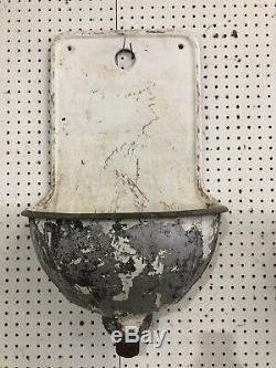 Vtg Cast Iron Wall Fountain Bubbler Decor Victorian Garden School Water Rare
