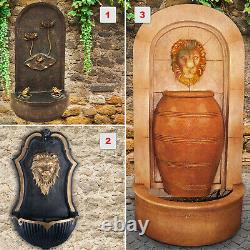 Wall Fountain Lion Fountain Garden Fountain Water Feature Complete Set Kit