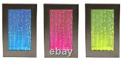 Wall-Mounted Bubble Water Feature Picture Frame Jet Fountain Contemporary Steel